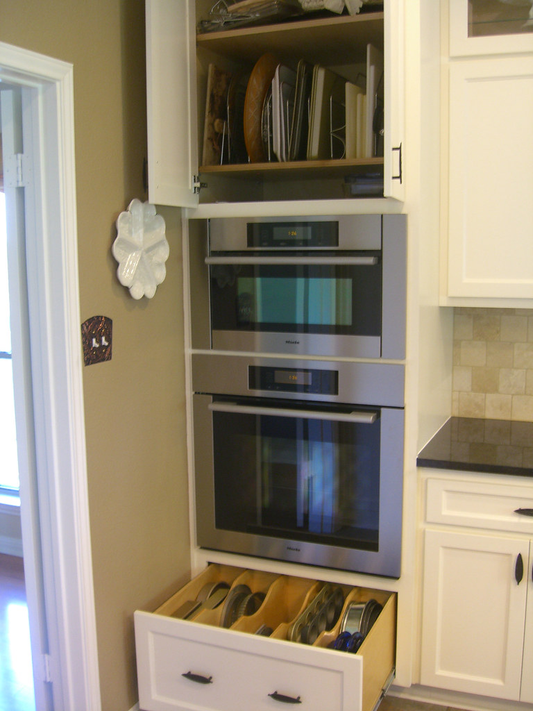 Kitchen finished oven cabinets vickie hallmark flickr for Wall oven microwave combo cabinet