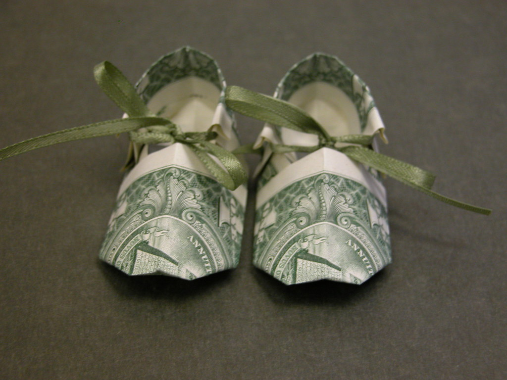 Dollar Bill Baby Shoe