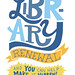 Library Renewal Brochure/Zine Page