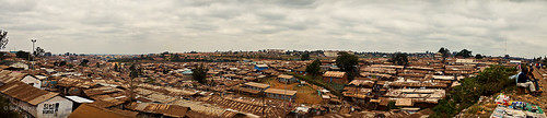 View of Kibera from the railroad tracks | by ONE.org