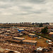 View of Kibera from the railroad tracks