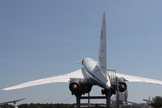 Rückansicht: Tupolew Tu-144