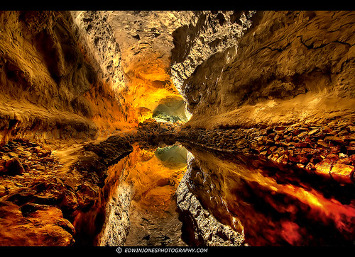 Lava Cave Reflection Lanzarote HDR | by Edwinjones