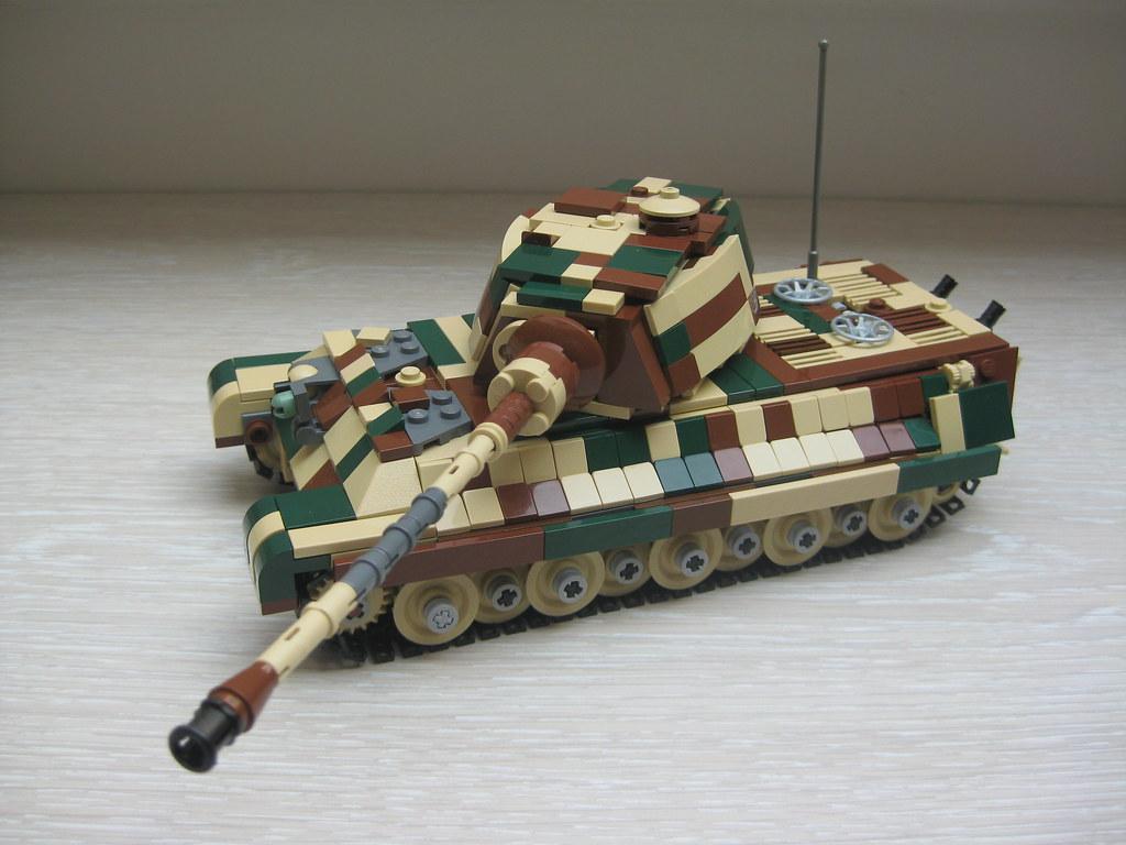 Как сделать из лего танк тигр 2