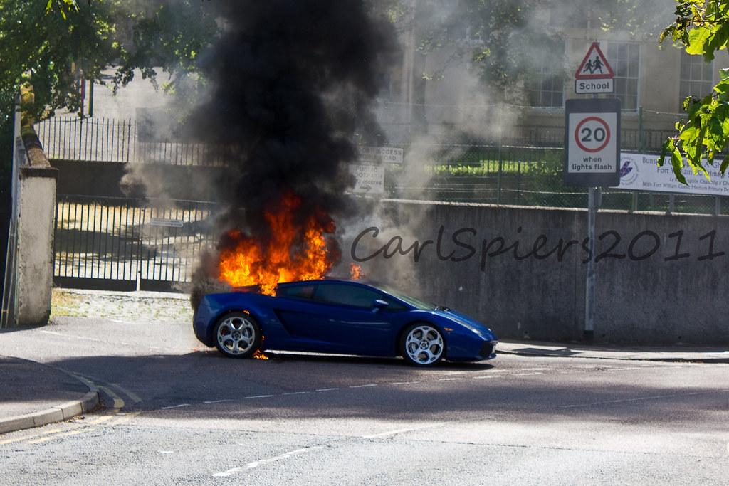 Lamborghini Gallardo On Fire In Fort William Scotland Flickr