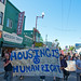 Housing is a human right - homes not jails marching down mission street
