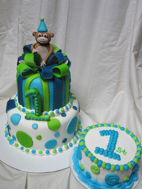 Birthday Cake Pictures For Baby Boy : First birthday boy cake Flickr - Photo Sharing!