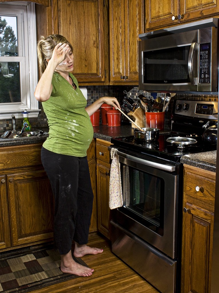 A Woman S Place Is In The Kitchen Barefoot And Pregnant