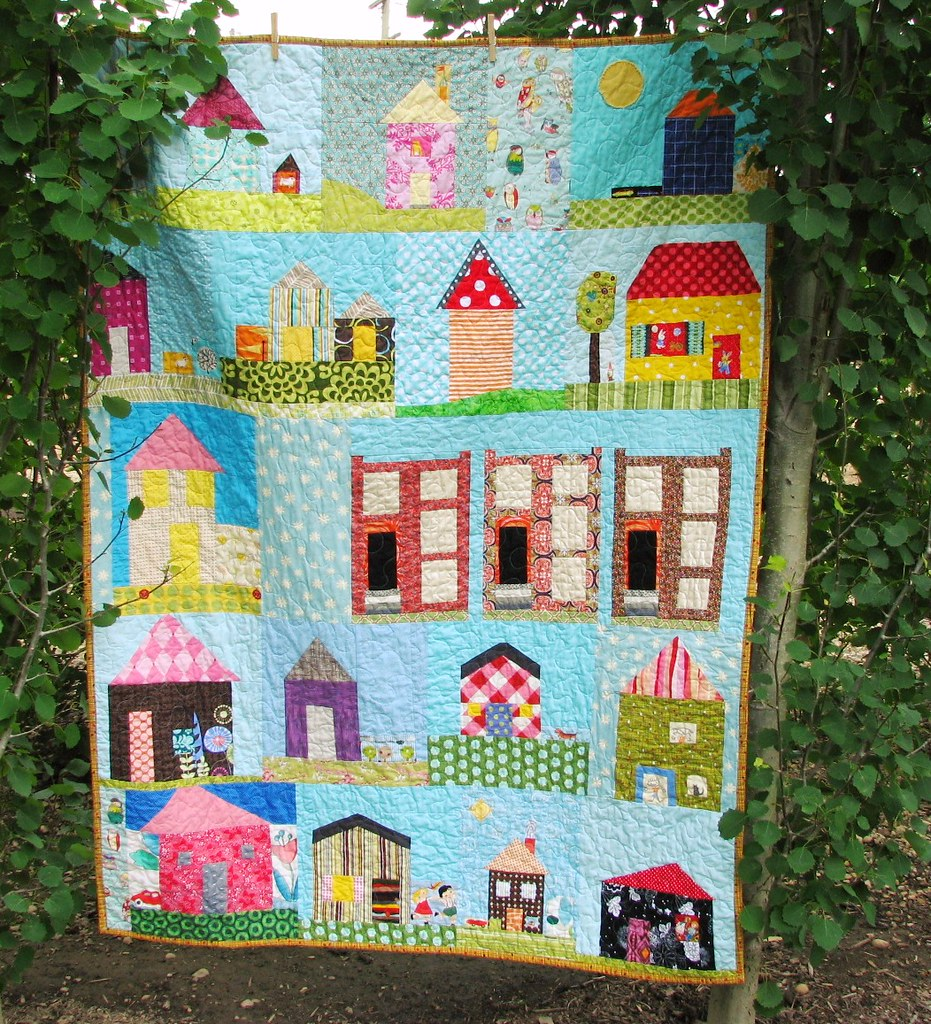 Free Quilt Patterns Of Houses : House Quilt for do.Good Stitches blueelephantstitches.blog? Flickr