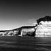 Pictured Rocks in BW