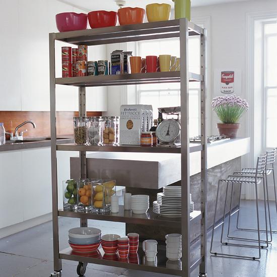 Extra Kitchen Shelves: Rolling, Found Online