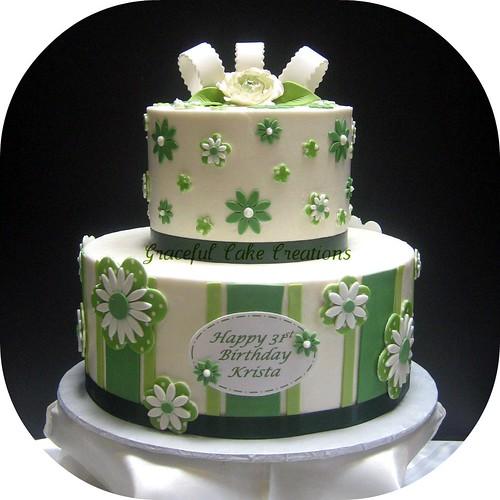 Fancy Happy Birthday Mom Cake