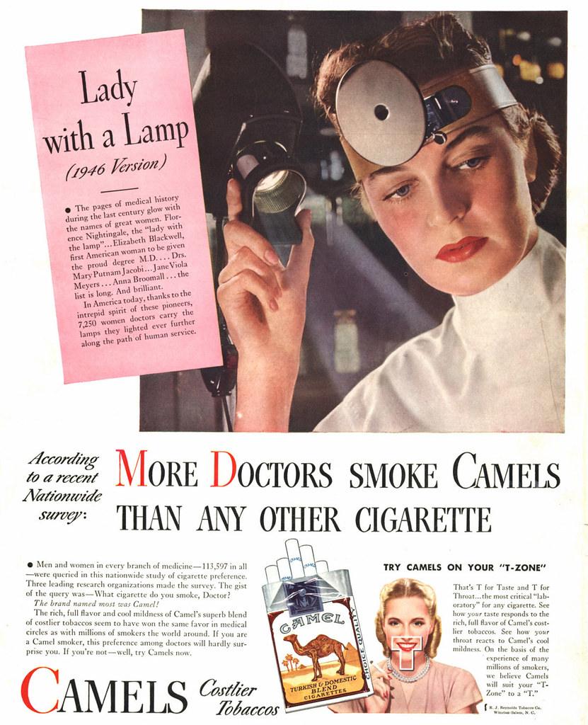 Camel More Doctors Lady With A Lamp Date 1946 Brand