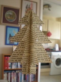 book page christmas tree decoration | by Littlelixie