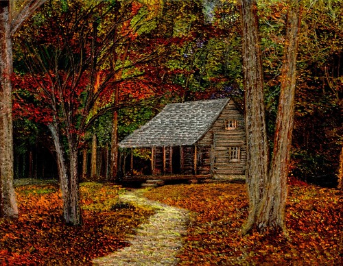 Fall Retreat Cabin In The Smoky Mountains During The