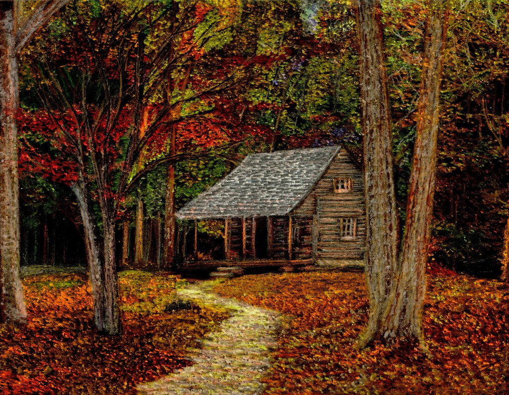 Lake Cabin Floor Plans Fall Retreat Cabin In The Smoky Mountains During The