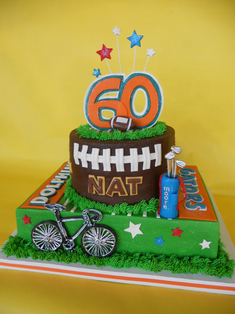 Miami Dolphin Superstart Moores 60th Birthday Cake Flickr