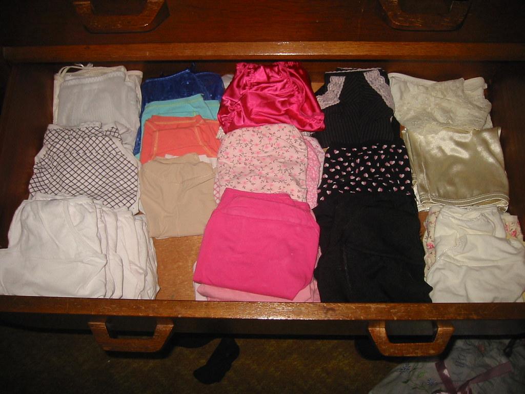 Drawer full of lingerie
