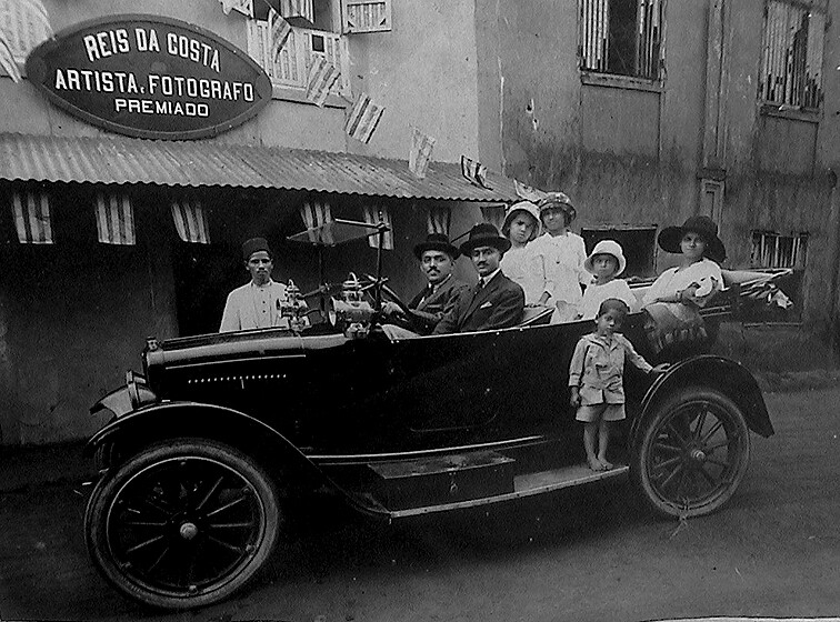 Gama Pinto Car Mapusa Goa Old Photograph A Vintage