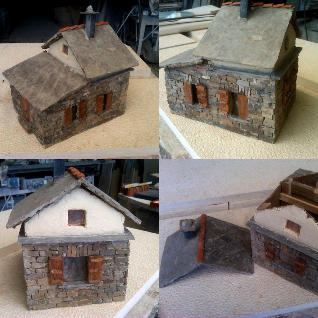 Modellino di casetta in vera pietra ardesia e legno for Case pietra e legno