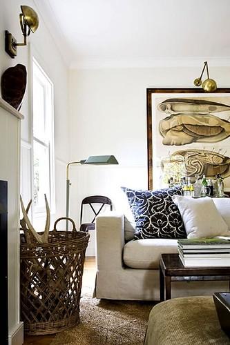 White Vintage Rustic Living Room