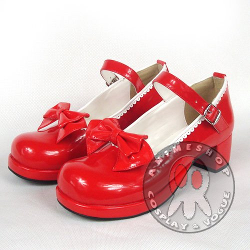 Zapatos de lolita rojos Fq3AaIK9nL