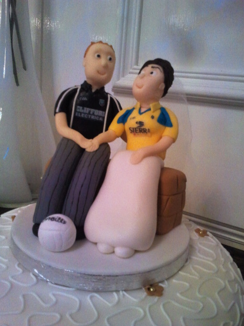 Football Themed Wedding Cake Topper At The Landmark Hotel Flickr