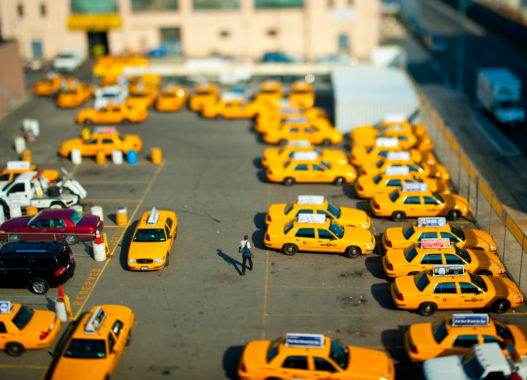 taxi depot in miniature new york city has way too many tax flickr. Black Bedroom Furniture Sets. Home Design Ideas