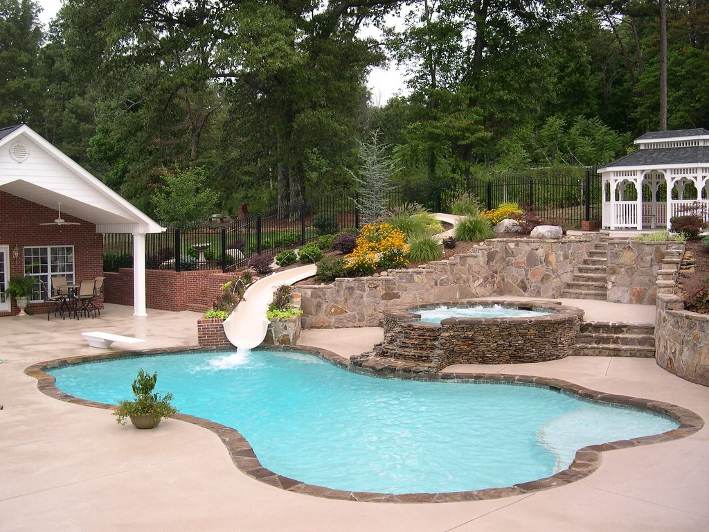 Campbell 39 s pool spa inc knoxville tn freeform pool 1 for Pool design knoxville tn