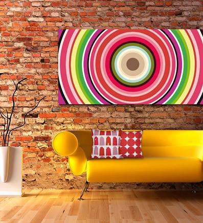 Pannello di arredamento su tela ispirato agli anni 70 flickr for Anni 70 arredamento