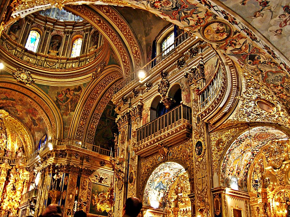 Baroque interior the basilica of san juan de dios dates for Baroque style church