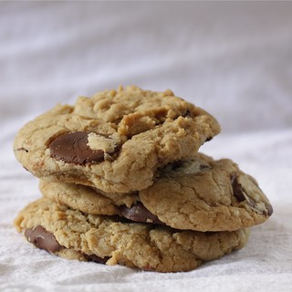 chewy cookies with chocolate discs | by Madison Bistro