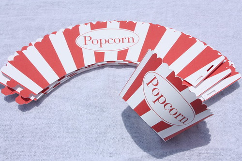 Popcorn Cupcake Wrappers | by ginnybeany