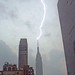 Lightning striking the Empire State Building