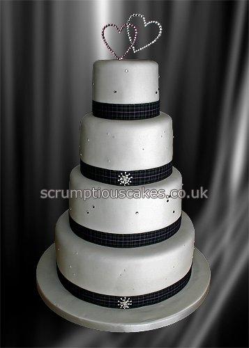 Tartan Ribbon For Wedding Cake