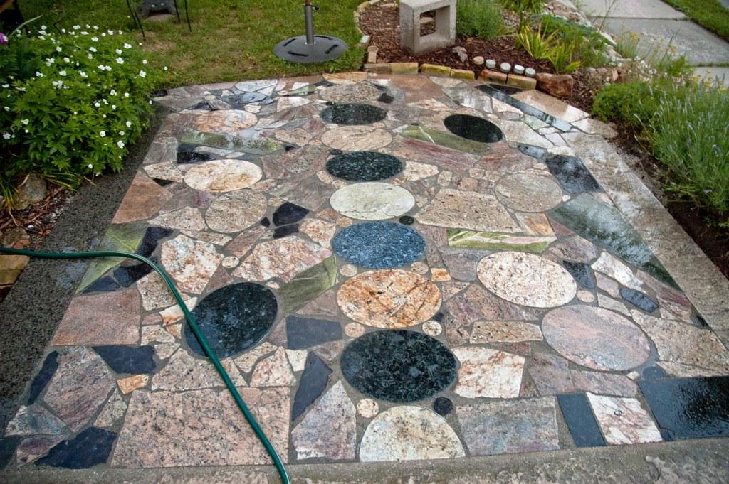 Scrap Granite Countertop Patio | Flickr
