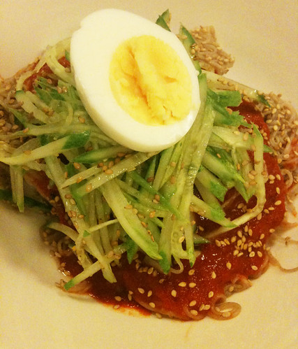 Michelle's bibim naengmyeon | by maangchi