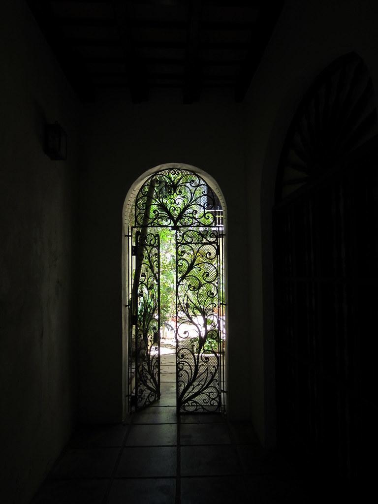 ... Light Shining Through A Wrought Iron Patio Door In Old San Juan, Puerto  Rico  
