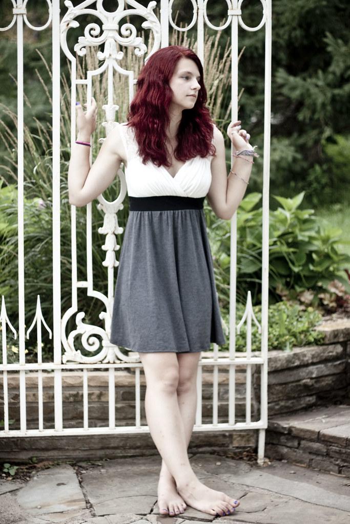 Barefoot redhead