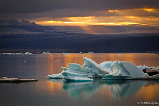 Sunbeams over Glacier Lagoon ~ Jökulsárlón, Iceland (Explored on Aug 01, 2011) | by Martin Sojka .. www.VisualEscap.es