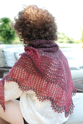 Hecate Shawl Modeled | by throughtheloops