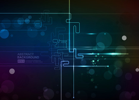 Abstract Technology Vector Line And Bokeh Background Flickr