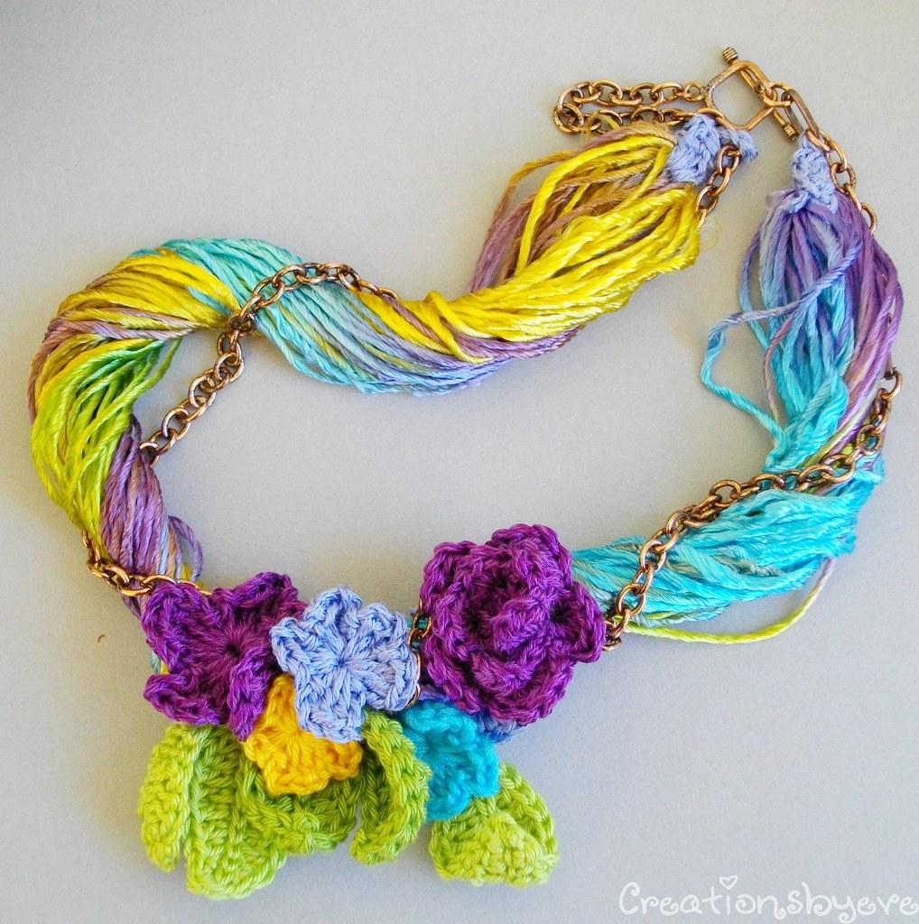 Crochet flowers bouquet necklace 5 evelyn flickr crochet flowers bouquet necklace 5 by creationsbyeve izmirmasajfo