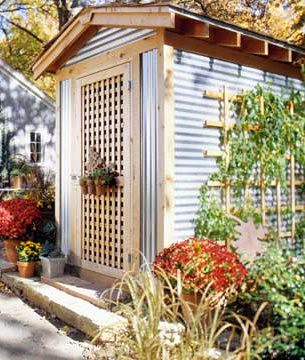 Corrugated Metal Amp Wood Shed Www Bhg Com Home
