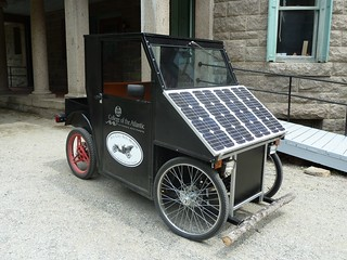 Awesome solar-powered cart, complete with log bumper! | by susancevans