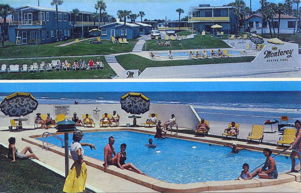 Monterey Motel Daytona Beach Fl 2403 S Atlantic Ave Mrs