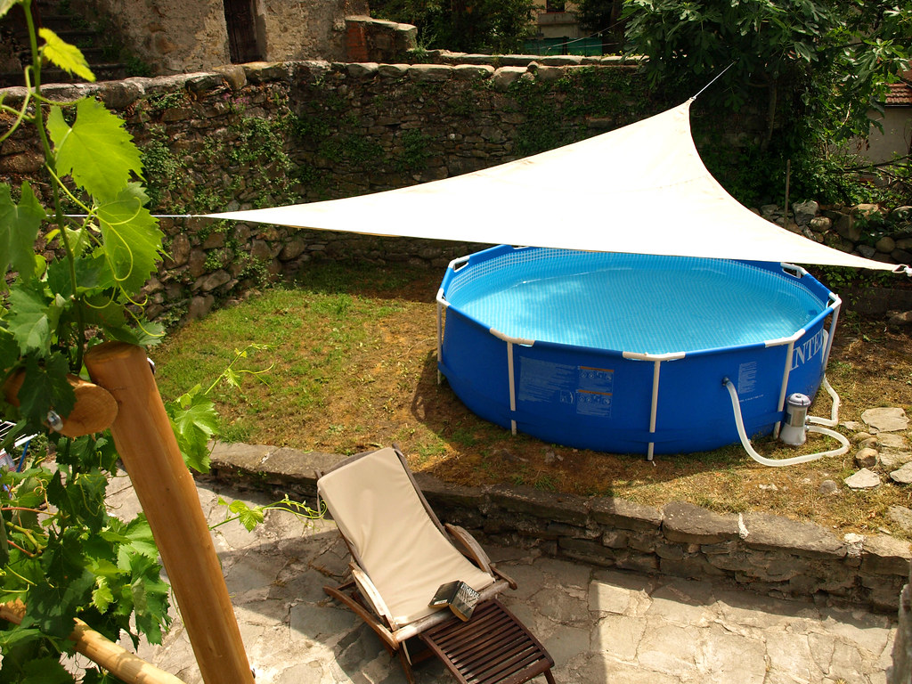 The sunny garden and small above ground pool email for Small swimming pools for gardens