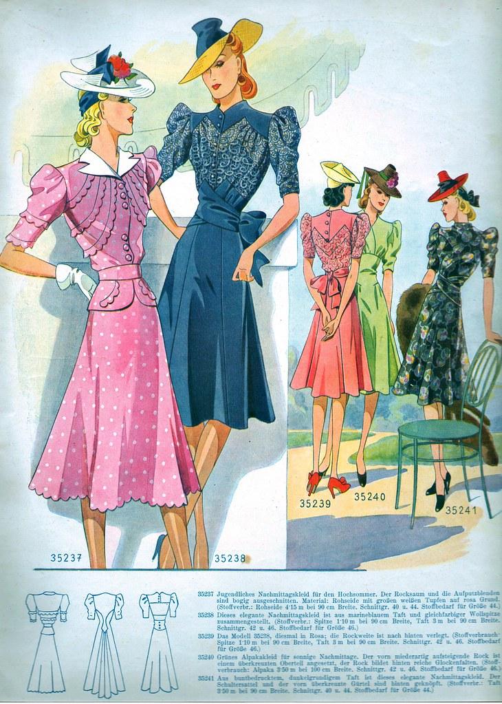 Vintage Fashion from Wiener Bunte Mode 1940