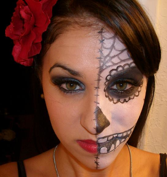 Day of The Dead Style Makeup Day of The Dead Makeup