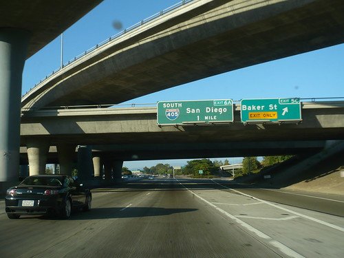 CA 55 Costa Mesa Freeway Northbound In Costa Mesa at Baker St | by bigmikelakers